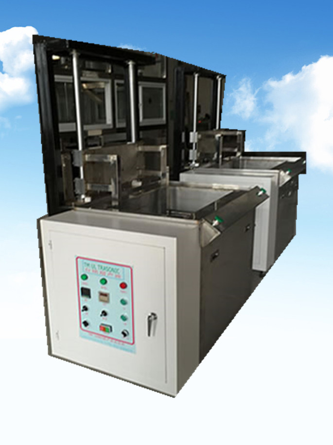 单槽模具升降式超声波清洗机侧面
