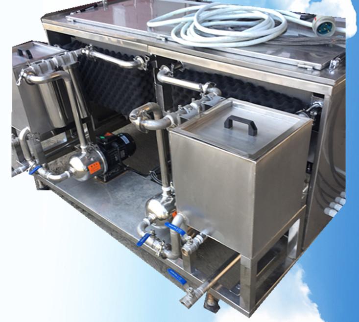 两槽手动超声波清洗机侧面