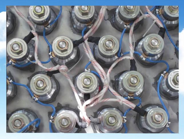 超声波换能器接线实物拍摄图