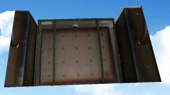 钛材料超声波震板实物拍摄图