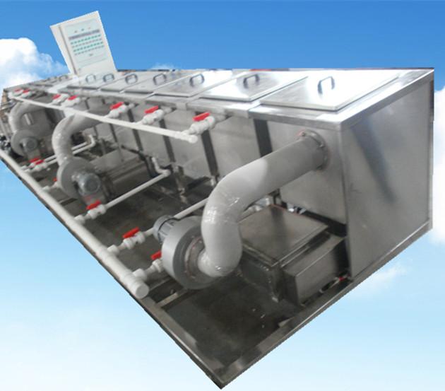 11槽手动铜管铝管超声波清洗机侧面