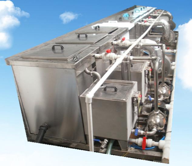 11槽手动铜管铝管超声波清洗机后面储液槽循环系统