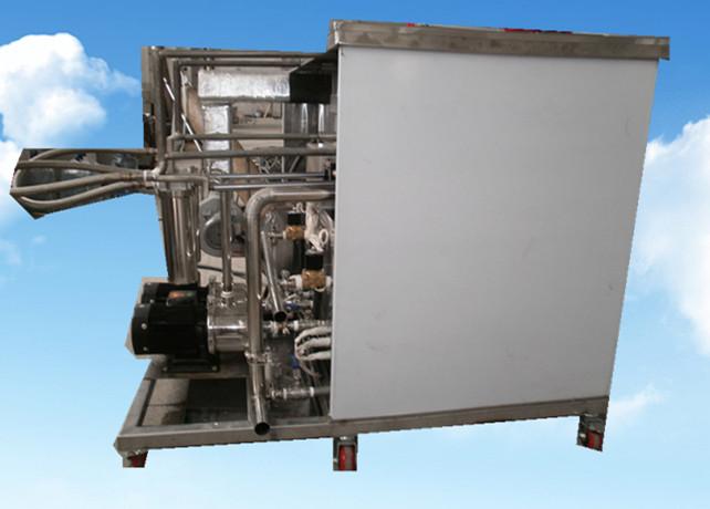 3槽手动超声波清洗机侧面拍摄图