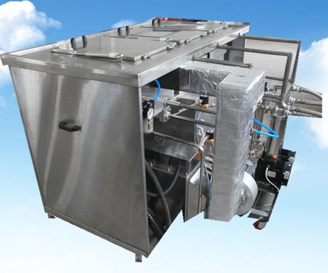 3槽手动超声波清洗机后部移动喷淋系统