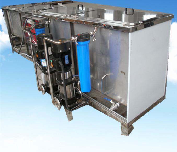 4槽水剂手动超声波清洗机侧面