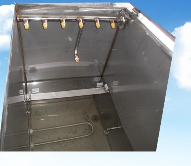 4槽水剂手动超声波清洗机喷淋系统