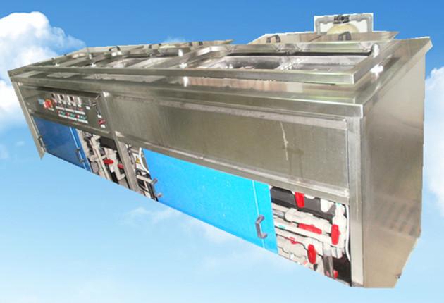 5槽水剂手动超声波清洗机正面