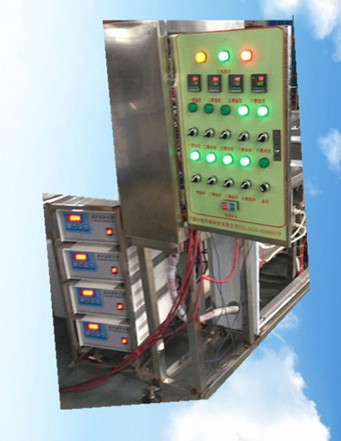 六槽手动超声波清洗机控制面板