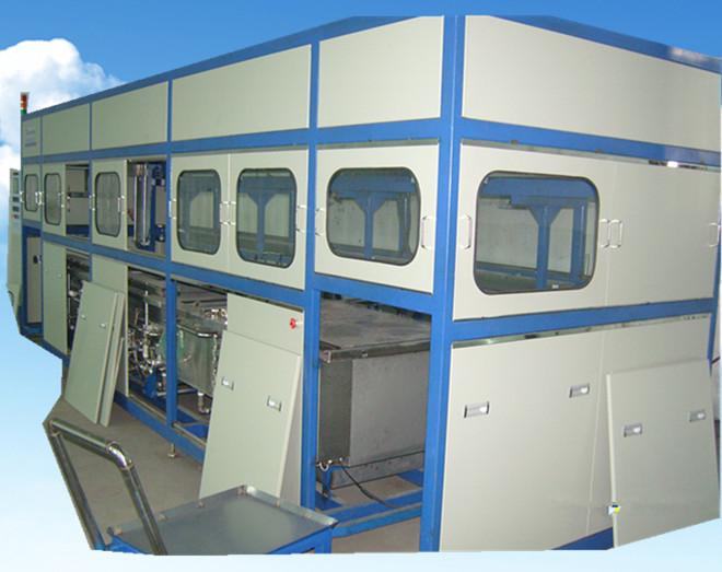 全自动全封闭电机外壳超声波清洗机进出料推车