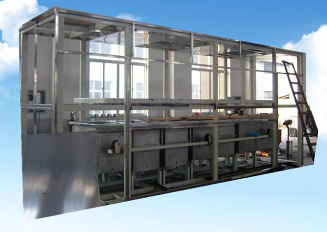 全自动汽车管路零件超声波清洗机组装中的外框架