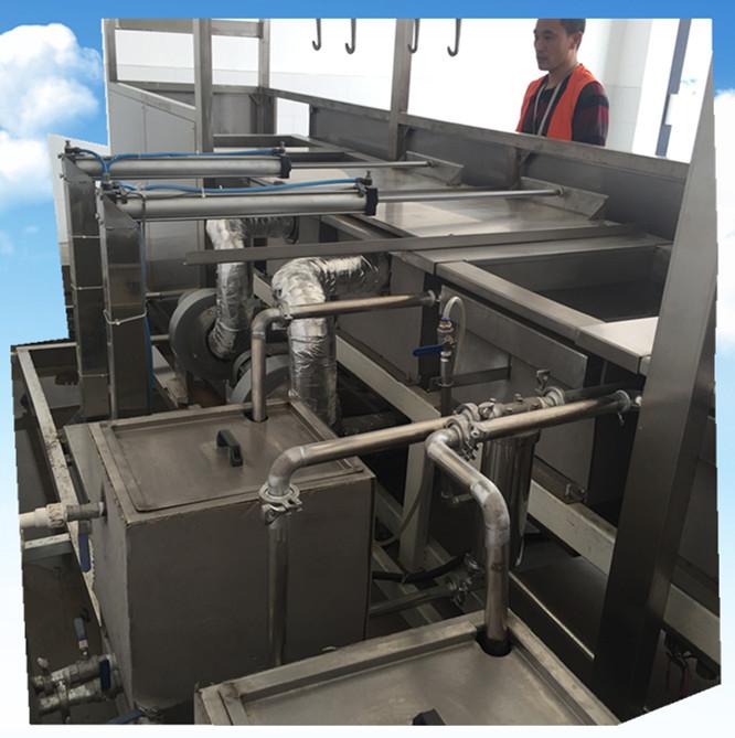 全自动汽车管路零件超声波清洗机后面储液槽